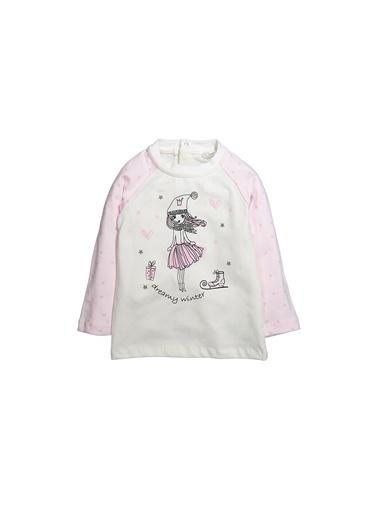 Zeyland Simli Baskılı ıki Renk Sweatshirt (12ay-4yaş) Simli Baskılı ıki Renk Sweatshirt (12ay-4yaş) Pembe